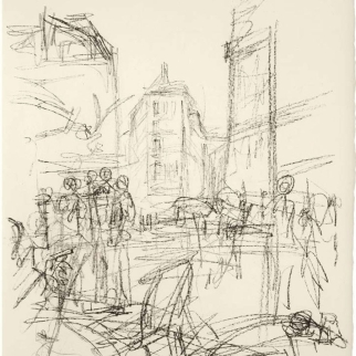 Alberto-Giacometti_Crowd-at-Intersection-c.-1965_Gagosian-Hong-Kong_Giacometti-Without-End
